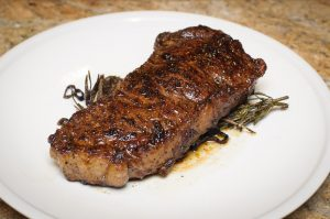 100% Grass fed NY strip steak