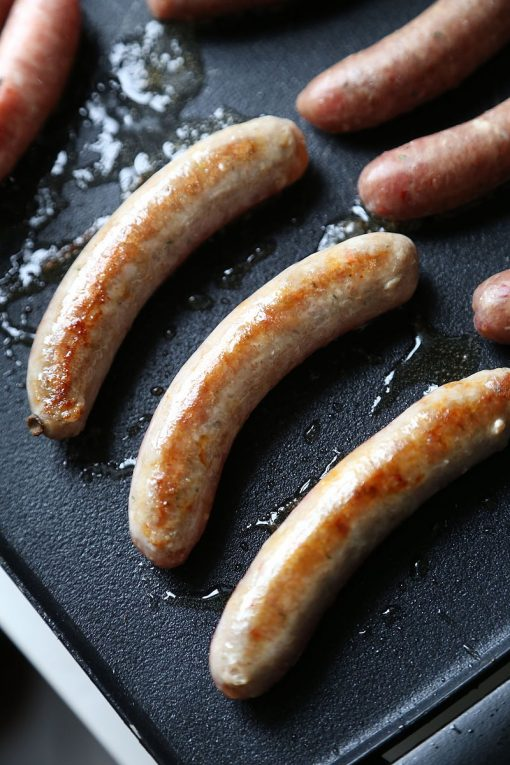 Maple sausage cooked