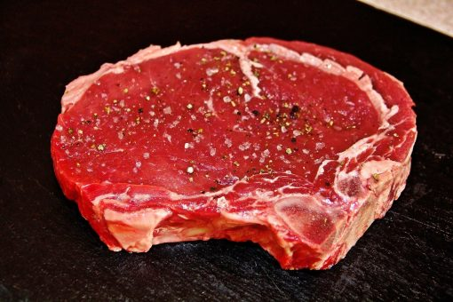 Grass fed rib steak
